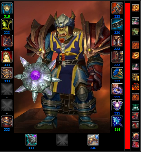 Smurger character from World of Warcraft, Level 85 Arms Warrior
