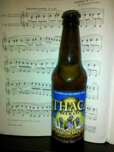 Ithaca Beer Company, Ground Break bottle of craft beer