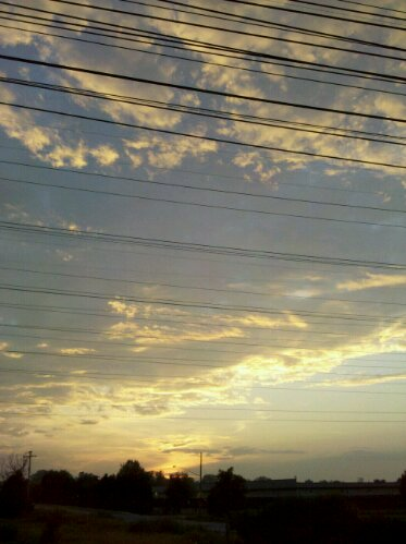 sunset in Buffalo, New York on a warm July summer evening, photo taken with a Motorola A855 Droid