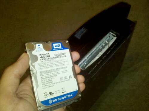 WD Scorpio 500GB 2.5 inch laptop hard drive upgrade for 60GB Sony PS3 Playstation