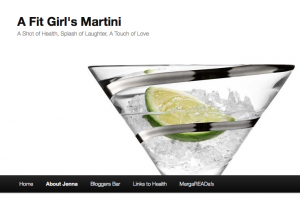 A Fit Girls Martini website screenshot