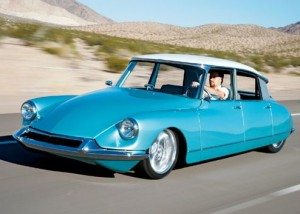 Citroen DS 2 light blue with white roof