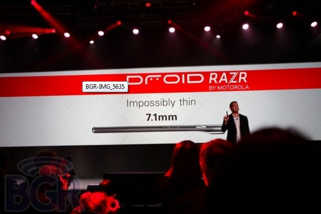 Droid RAZR from Press Conference