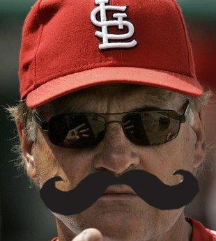 tony larussa fake mustache