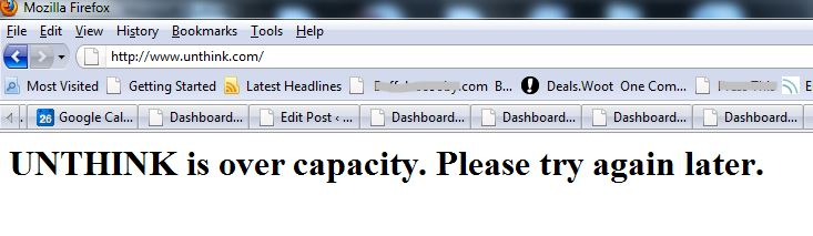Unthink is over capacity