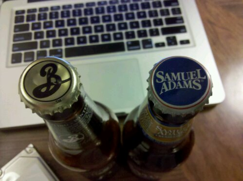 Brooklyn Brewery and Samuel Adams bottle caps