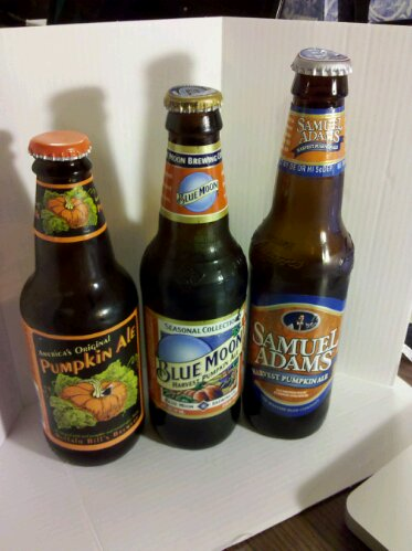 Three pumpkin spiced beers
