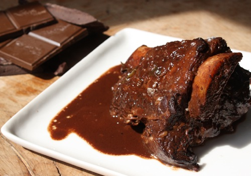ribs dipped in chocolate