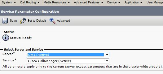 Cisco Unity CM Administration 8 Call Forward No Answer timer setting, to set number of rings before call goes to voicemail